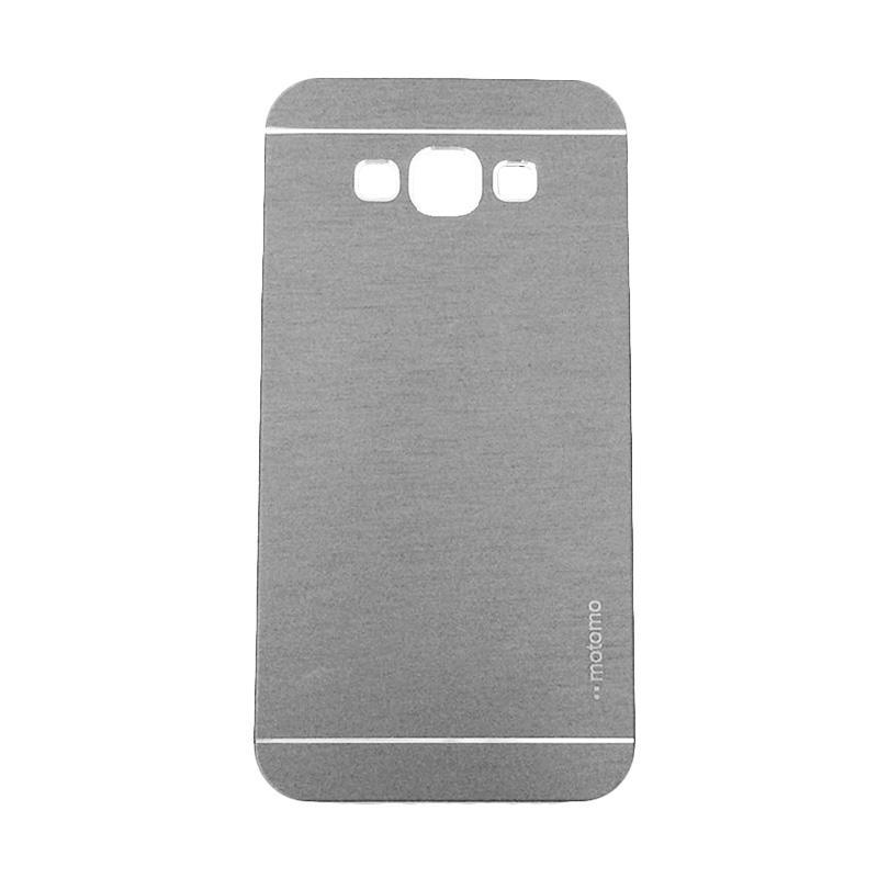 Motomo Metal Hardcase Backcase Casing for Samsung Galaxy J7 J700F - Silver