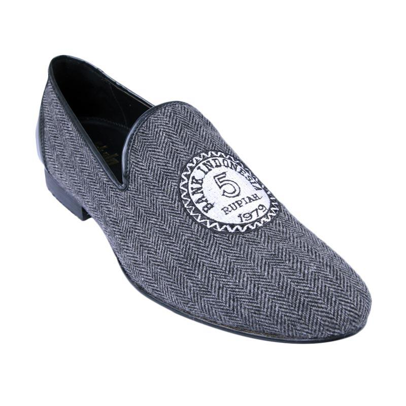 Ftale Footwear Money Talks Mens Shoes Herringbone Sepatu Pria - Grey