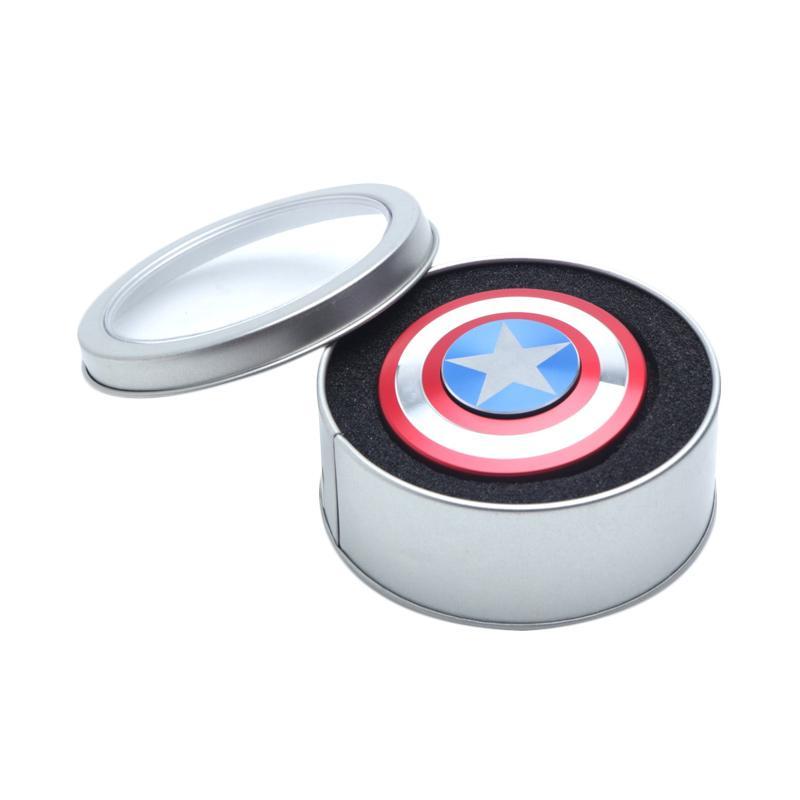 Captain America Limited Edition Aluminium Fidget Spinner - Multicolor