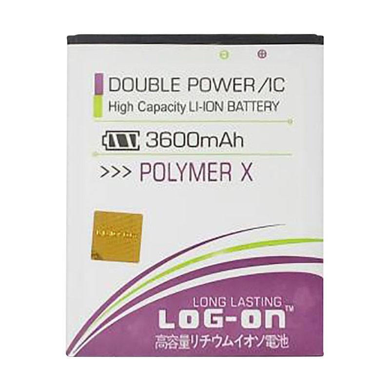Log On Battery Double Power and IC for Himax Polymer X [3600mAh/Garansi 6 Bulan]