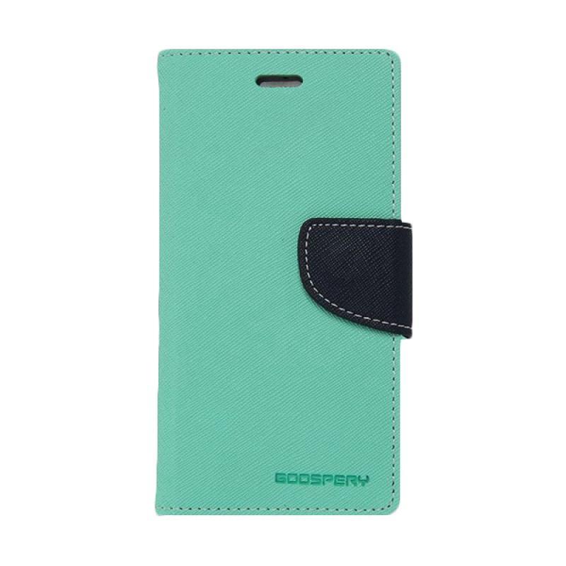 Mercury Fancy Diary Casing for Samsung Galaxy S4 Mini I9190 - Hijau Tua Biru Laut