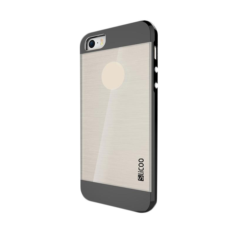 Slicoo Clear Back Side Cover Hardcase Casing for Apple Iphone 6 Plus - Hitam