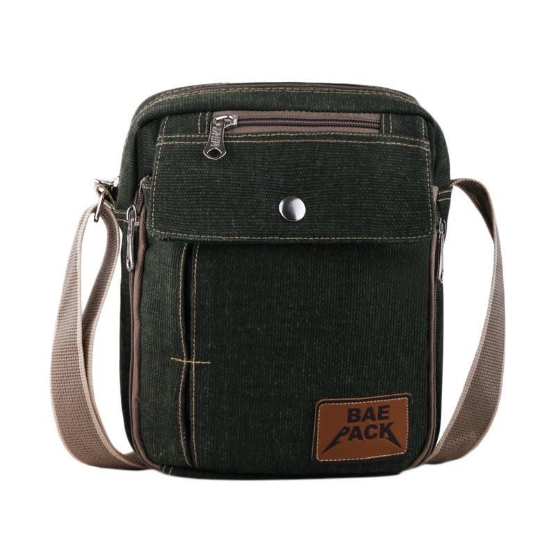 Baepack Classic Canvas Multifunction Messenger Shoulder Bag - Dark Green. Brand: Baepack