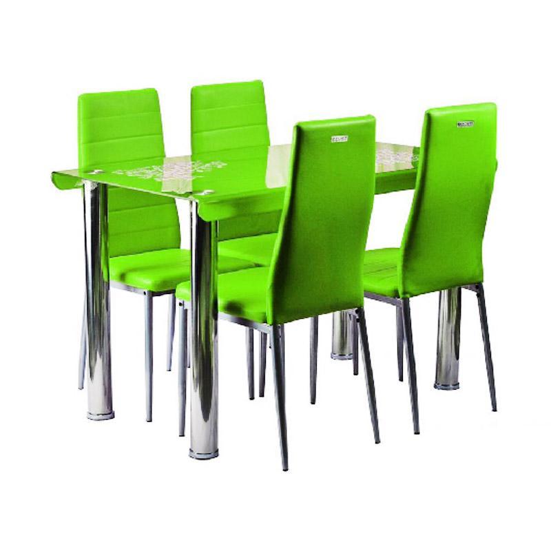 Best Furniture IMP-DSK08 Set Meja Makan Minimalis - Green [120 x 70 cm]