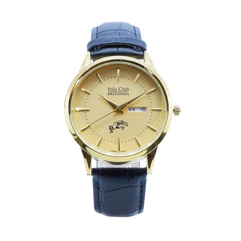 harga Britannia Polo Club B14-M8085LG-9 Analog Watch Jam Tangan Pria - Gold Blibli.com