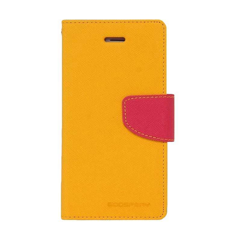 Mercury Fancy Diary Casing for Asus Zenfone 2 ZE551ML - Kuning Magenta