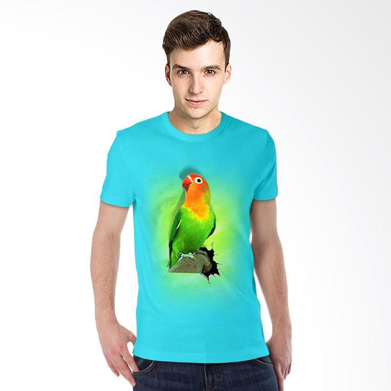 harga T-Shirt Glory 3D Burung Love Bird Fold T-shirt - Turkis Muda Blibli.com