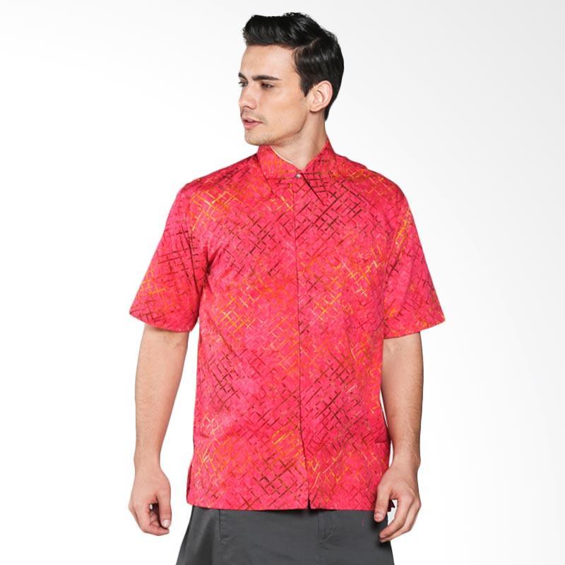Batik Pria Tampan Tweed Weave Slimfit PKMPD-04081652C Men Shirt- Red