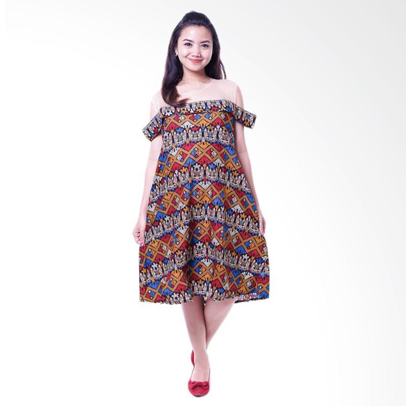 harga Mama Hamil Dress Bolero Batik Etnik Sabrina Baju Hamil Menyusui - Merah Blibli.com