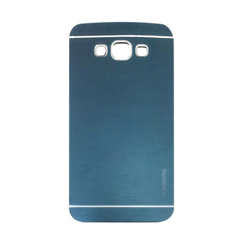 Motomo Metal Hardcase Backcase Casing for Samsung Galaxy J7 J700F - Dark Blue
