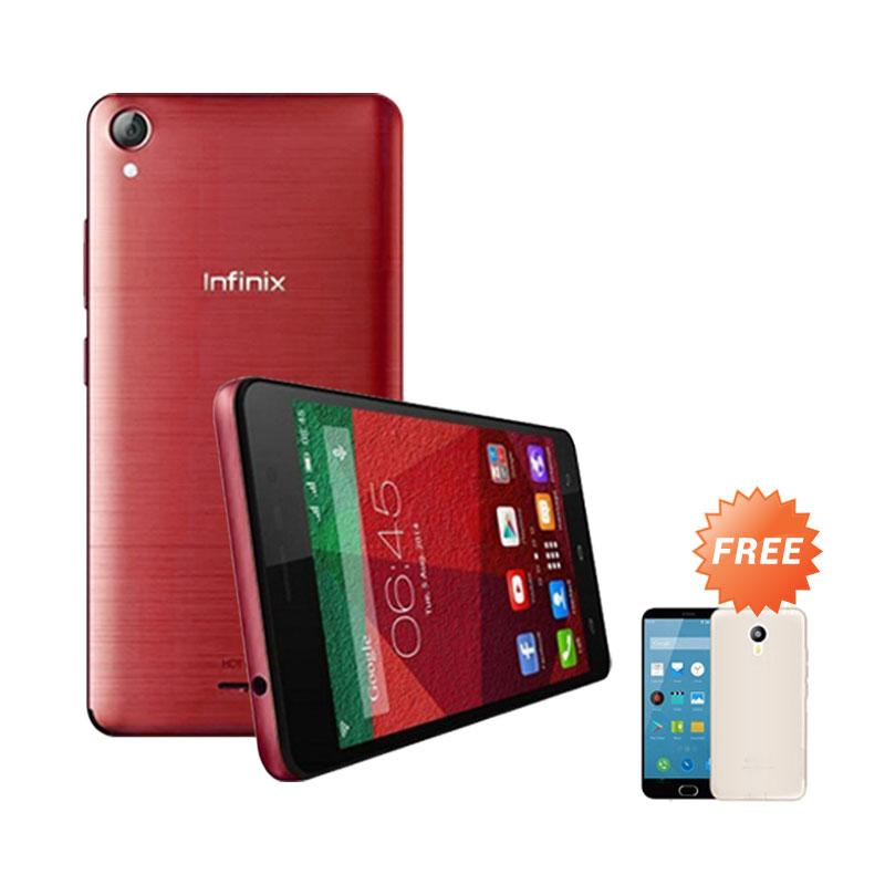 Ultrathin Casing for Infinix Hot Note - Red Clear + Free Ultra Thin