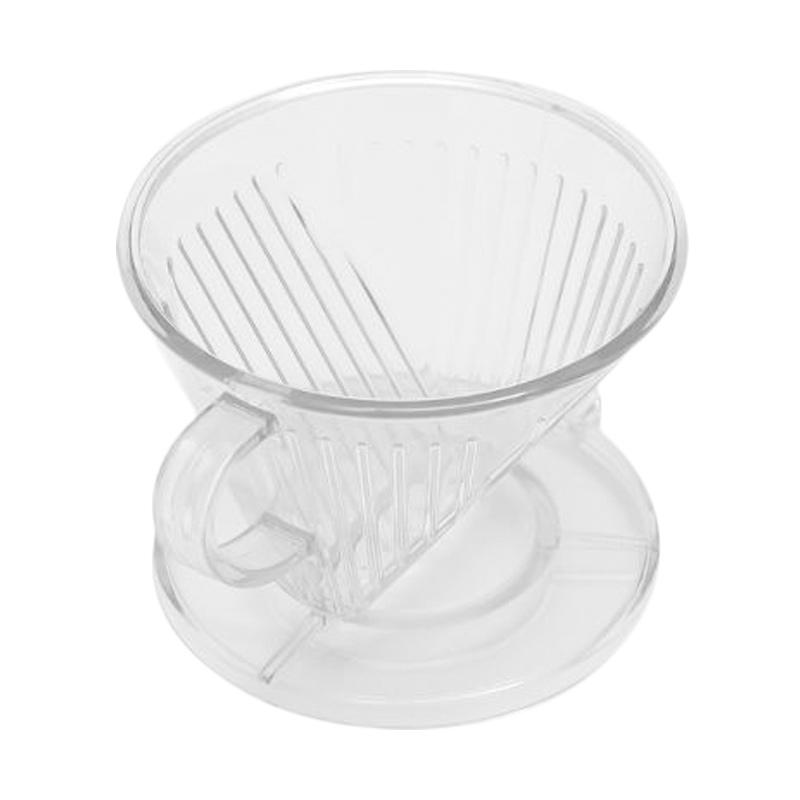Worcas Pour Over Flat Bottom Acrylic Dripper - Transparant [Size 01]