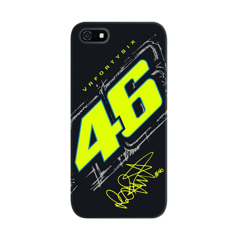 Indocustomcase Valentino Rossi The Doctor VR46 01 Cover Casing for iPhone 5/5S/SE