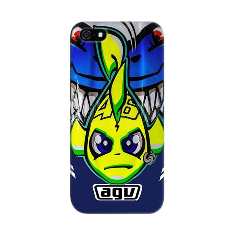 Indocustomcase Valentino Rossi The Doctor VR46 10 Cover Casing for iPhone 5/5S/SE