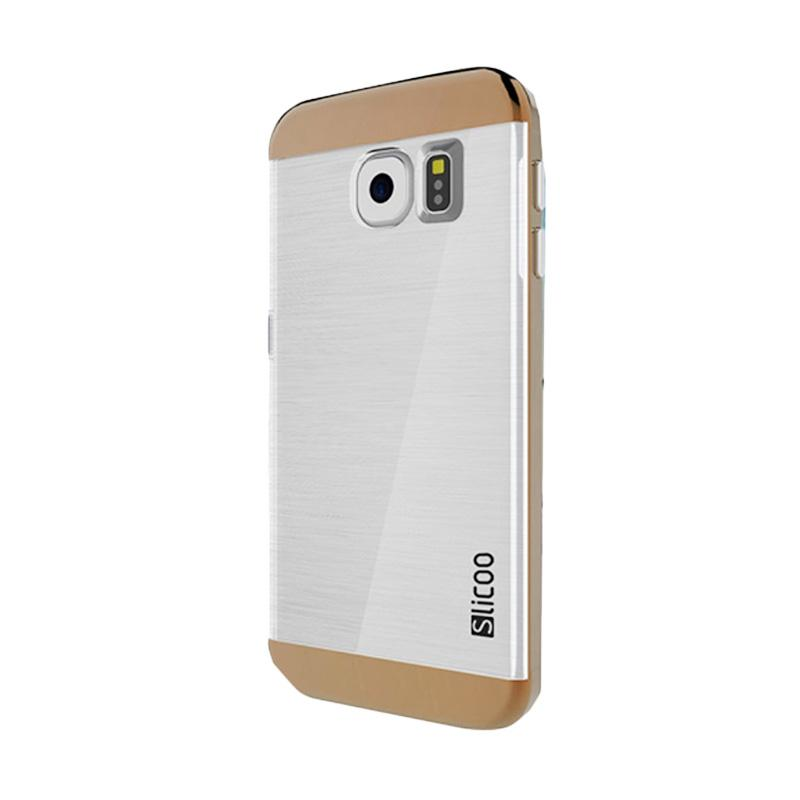 Slicoo Clear Back Cover Hardcase Casing for Samsung Galaxy S6 Edge - Cokelat