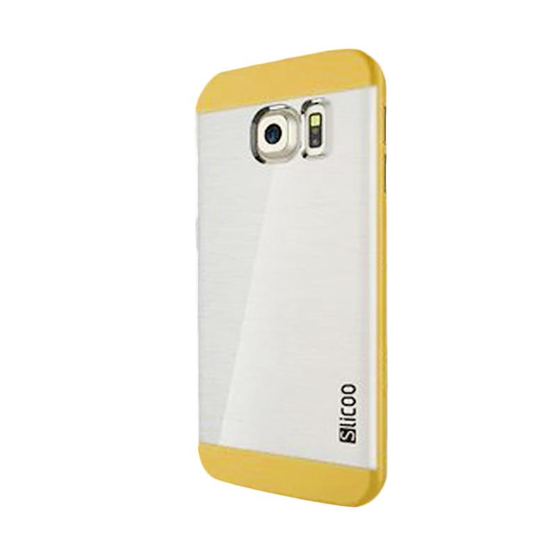 Slicoo Clear Back Cover Hardcase Casing for Samsung Galaxy S6 Edge - Kuning