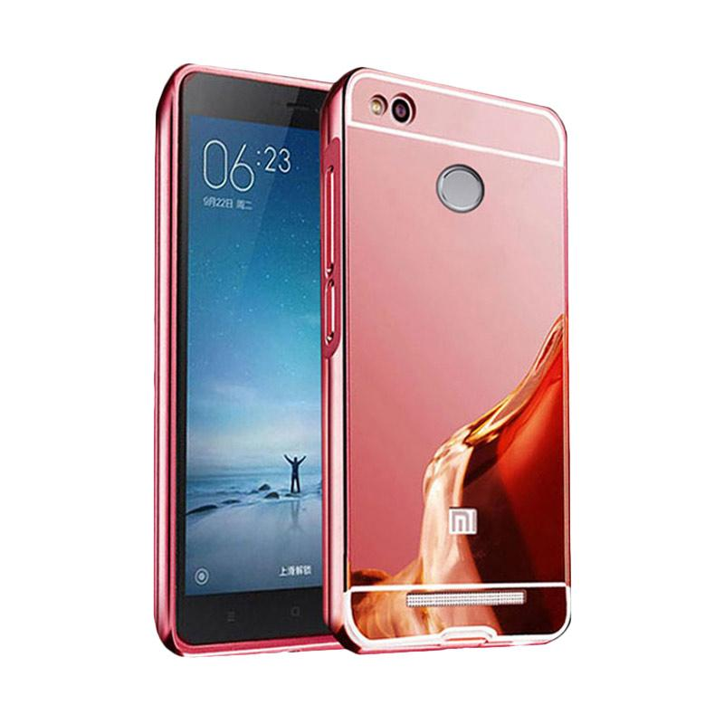 Bumper Case Mirror Sliding Casing for Xiaomi Redmi 3 PRO - Rose Gold