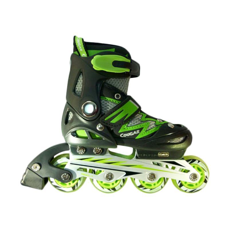 harga Cougar W/ABEC7 MS835L ADJ.Junior Inline Skate Sepatu Roda - Black Green [Size 38-41] Blibli.com