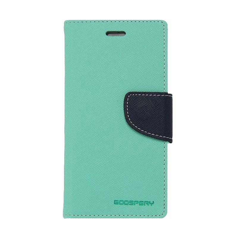 Mercury Fancy Diary Casing for Asus Zenfone 5 A500- Hijau Tua Biru laut