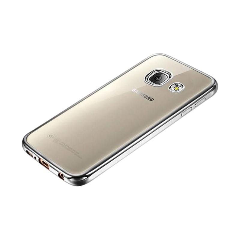OEM Ultrathin TPU Shining Chrome Casing for Samsung Galaxy A5 2016 - Dark Grey