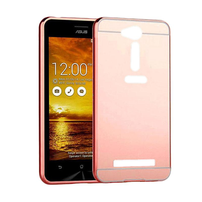 Bumper Mirror Sliding Casing for Asus Zenfone GO 4.5 Inch - Rose Gold