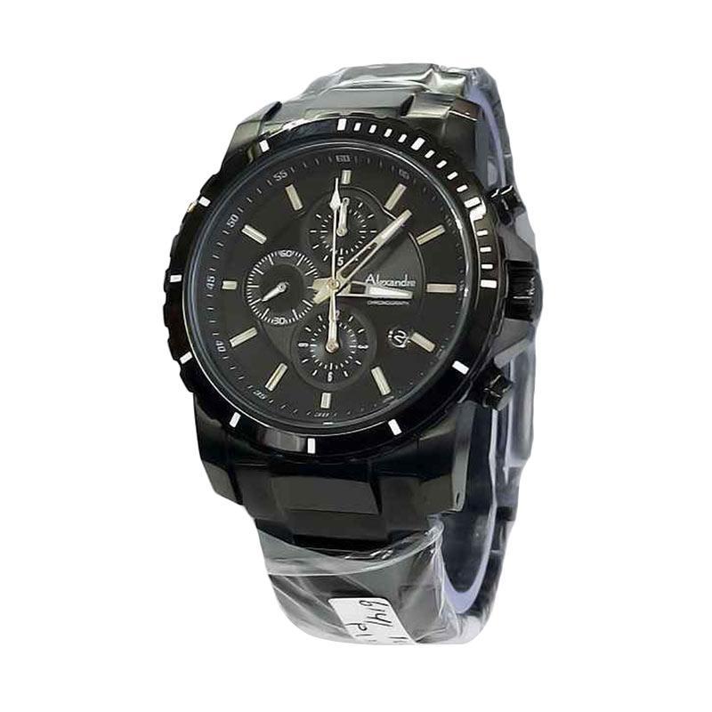 Alexandre Christie AC 6141 Stainless Steel Jam Tangan Pria - Black