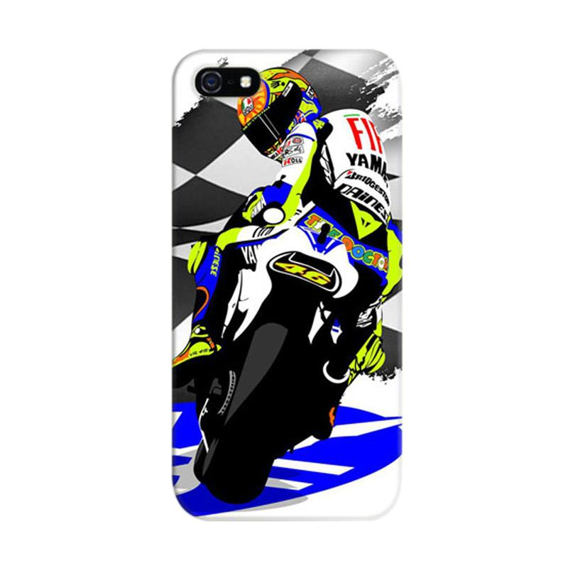 Indocustomcase Valentino Rossi The Doctor VR46 05 Cover Casing for iPhone 5/5S/SE
