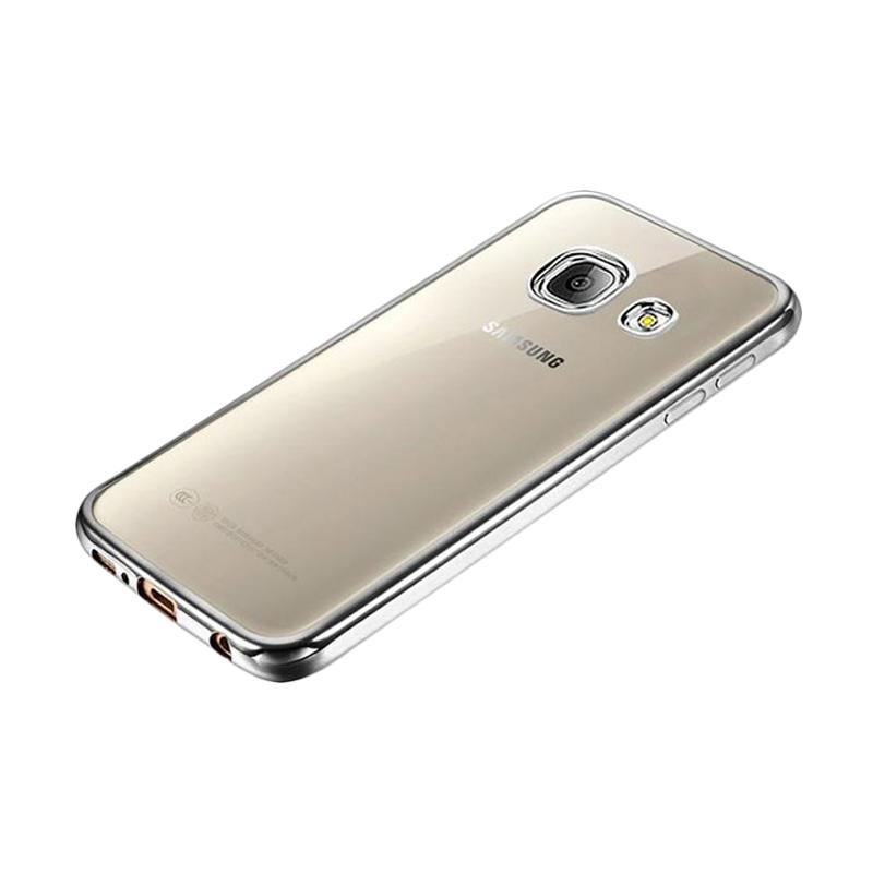 OEM Ultrathin TPU Shining Chrome Casing for Samsung Galaxy A7 2016 - Dark Grey