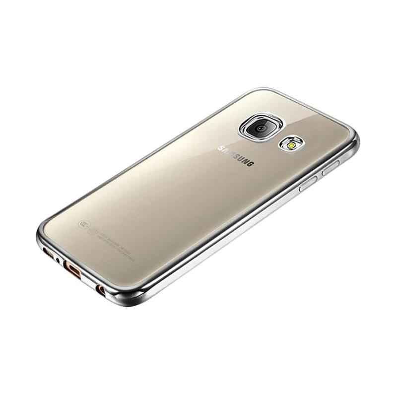 OEM Ultrathin TPU Shining Chrome Casing for Samsung Galaxy J7 Prime - Dark Grey