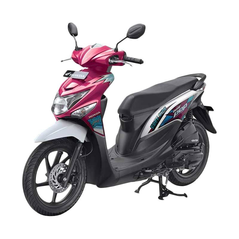 harga Honda All New BeAT eSP FI POP Comic CBS ISS Sepeda Motor - Voice Magenta White Blibli.com