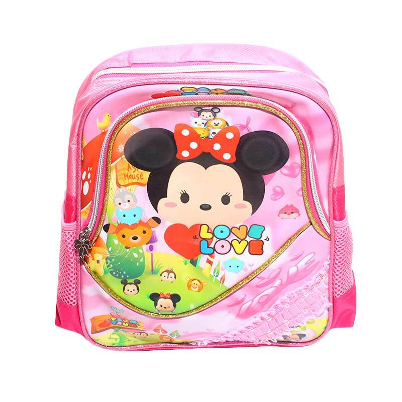 Istana Kado IKO00728 Mini Ransel PP6 S Tsum Tsum Tas Sekolah Anak - Pink