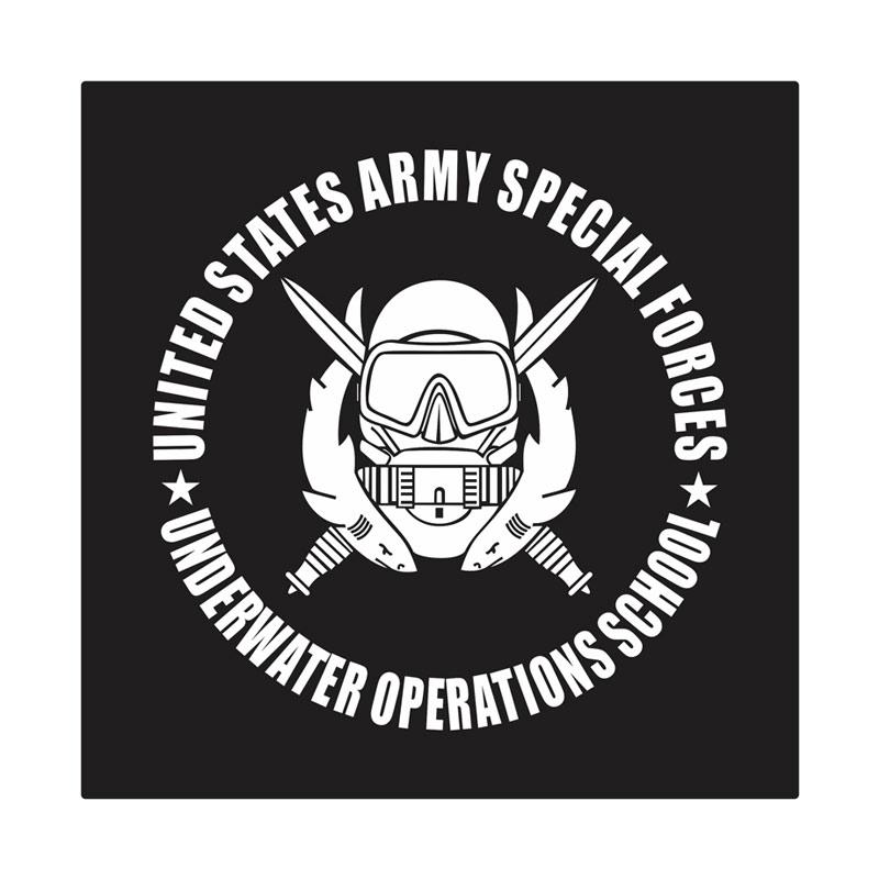 Kyle United States Army Special Force Underwater School Cutting Sticker