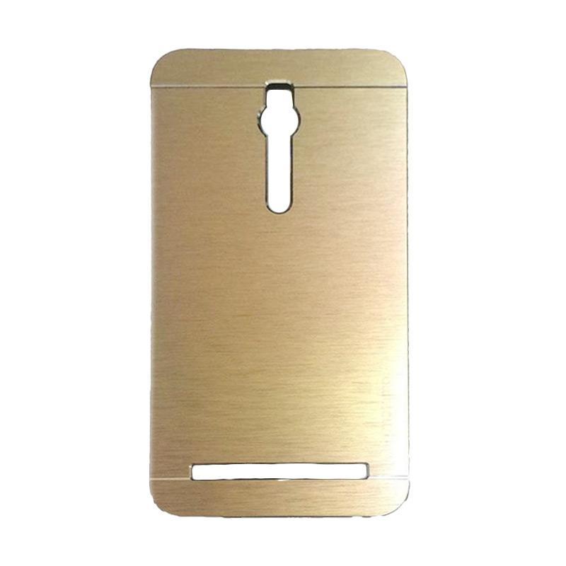 Motomo Metal Backcase Hardcase Casing for Asus Zenfone 2 ZE551ML 5.5 Inch - Gold