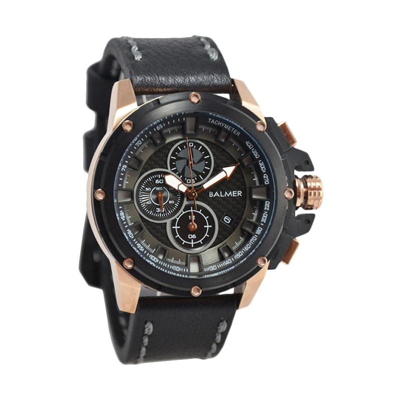 Balmer Casual Man D48H675B7905MHTMRG Chronograph Leather Strap Jam Tangan Pria