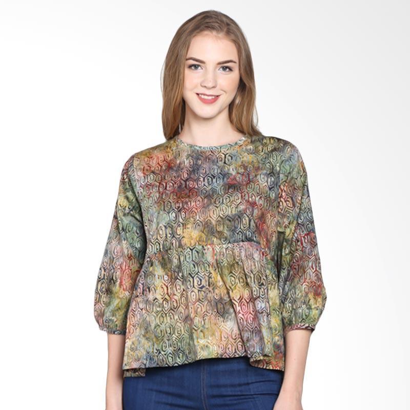 Batik Pria Tampan Women Wbl34-04081608c-Multi Hexagon Spiral Blouse