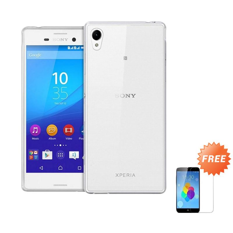 harga Case Ultra Thin Softcase Casing For Sony Xperia E3 or D2203 - Clear + Free