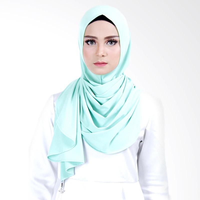 Cantik Kerudung Scarlett Jersey Crepe Hijab Instant - Mint Green