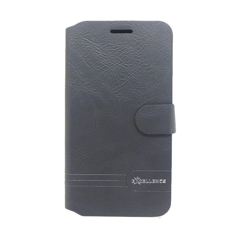 Excellence Flip Cover Dragonite Casing for Asus Zenfone 3 ZE552KL - Black