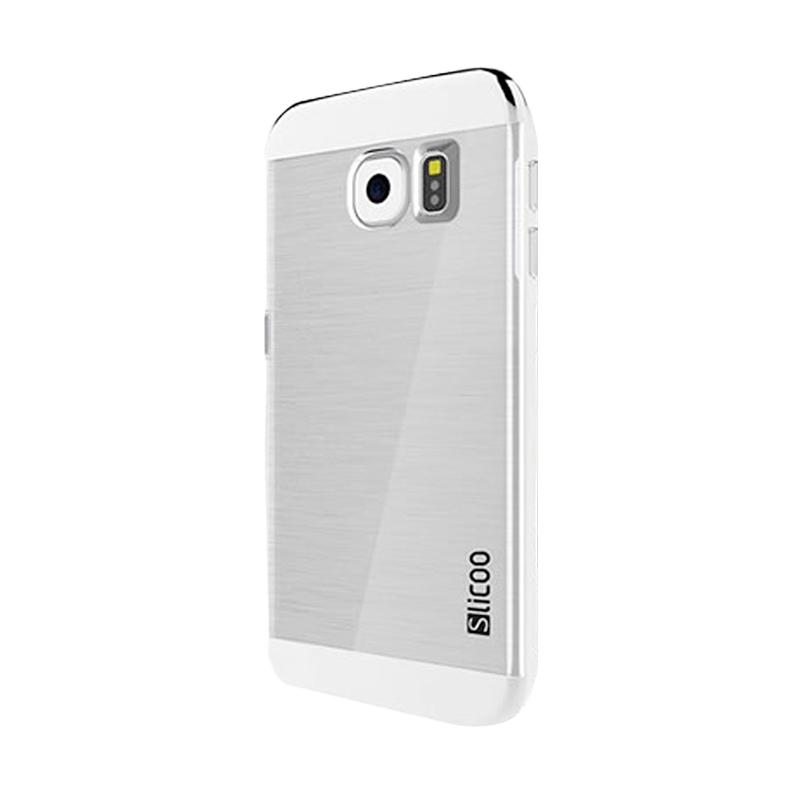 Slicoo Clear Back Cover Hardcase Casing for Samsung Galaxy S6 Edge - Silver