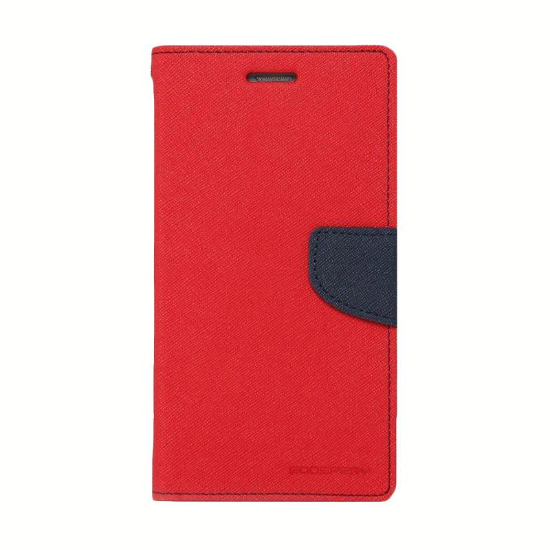 Mercury Fancy Diary Casing for Asus Zenfone 2 ZE551ML - Merah Biru Laut