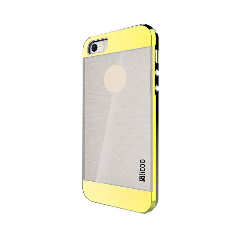 Slicoo Clear Back Side Cover Hardcase Casing for Apple Iphone 6 or 6S - Kuning