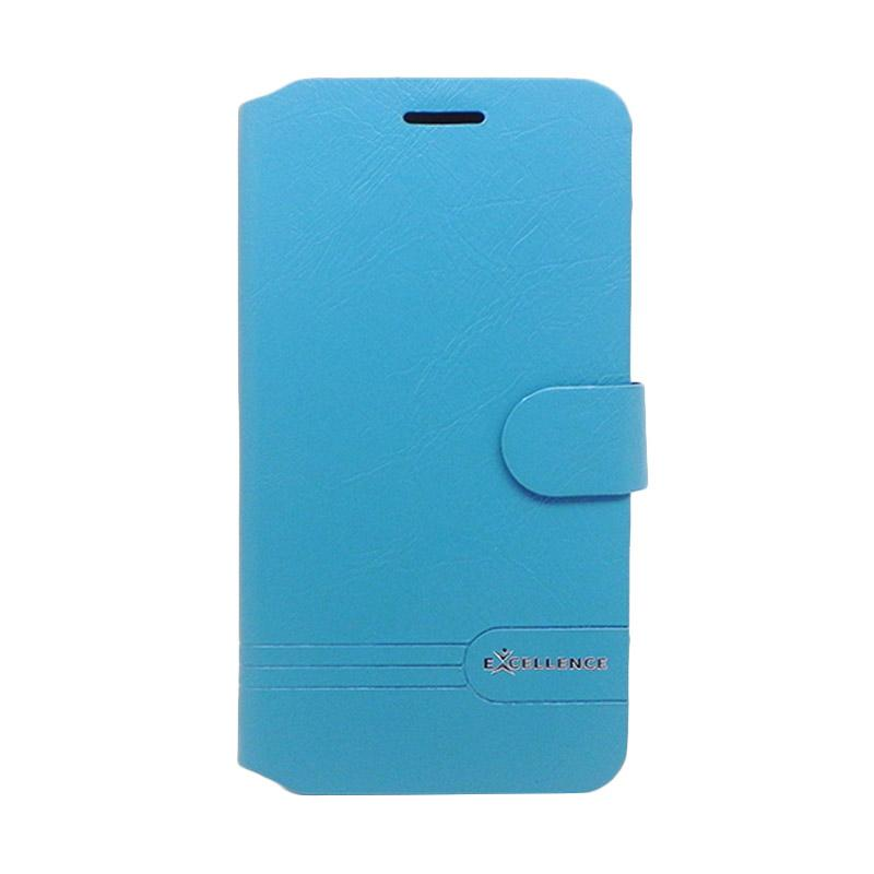 Excellence Flip Cover Dragonite Casing for Asus Zenfone 3 ZE552KL - Blue