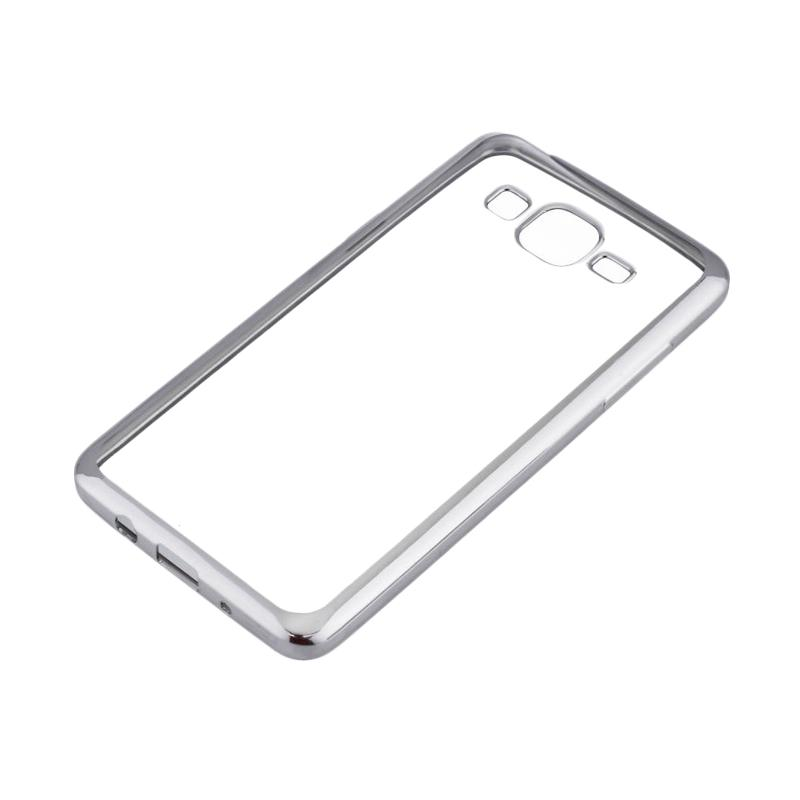 OEM Shining Chrome Softcase Casing for Samsung Galaxy Grand Neo Plus i9060 - Silver
