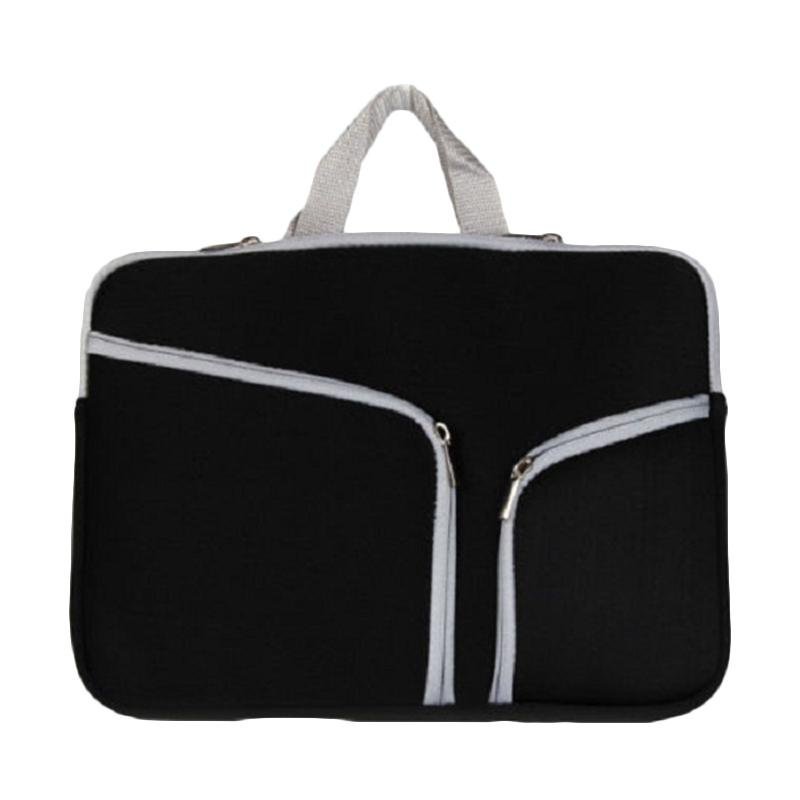 Cooltech Double Pocket Softcase Tas Laptop for Ultrabook 15 Inch - Black