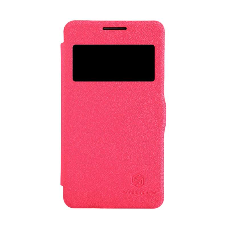 Nillkin Fresh Original Flip Cover Casing for Samsung Galaxy Core - Red