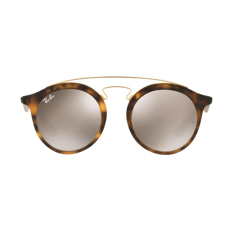 Ray-Ban RB4256F Sunglasses - Matte Havana [60925A/Size 47/Light Brown Mirror Gold]