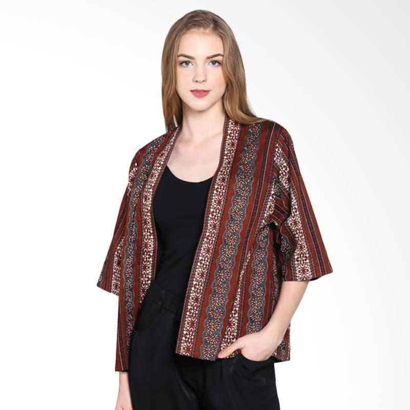 Batik Pria Tampan Woupd-04081623p Lajur Kusuma Cardigan Wanita - Teak