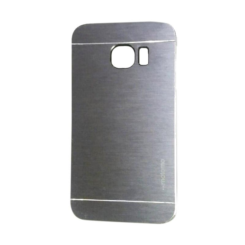 Motomo Metal Hardcase Backcase Casing for Samsung Galaxy S6 Edge  - Silver