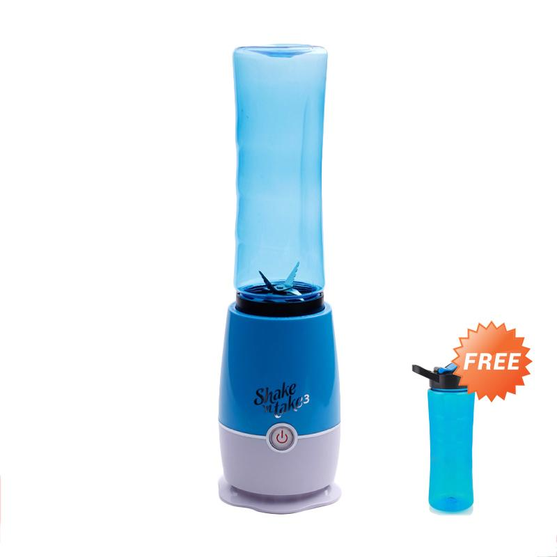 harga Shake N Take 3rd Generation Take and Go Blender Juicer - Blue [2 Tabung Gelas] Blibli.com