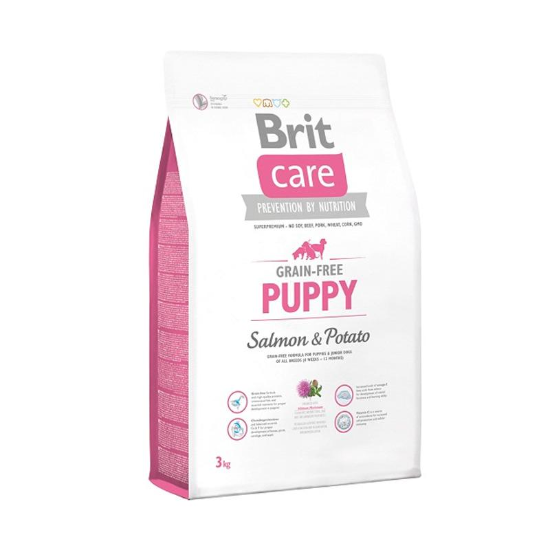 Brit Care Grain Free Puppy Salmon and Potato Super Premium Dog Food [3 kg]